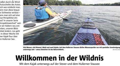 Zeitungsartikel: Willkommen in der Wildnis